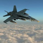 Click to see information about the 'F/A-18 Hornet (for Poser)'.