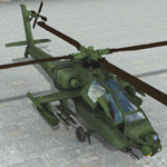 Click to see information about the 'Apache AH-64 Helicopter (for Poser)'.
