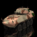 Click to see information about the 'LAV 25 Piranha (for Poser)'.
