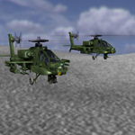 Apache AH-64 Helicopter (for Vue)
