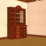 Satinwood Bookcase C. 1790 (for Poser)
