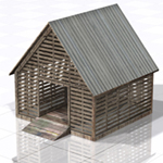 Click to see information about the 'Corncrib (for Poser)'.