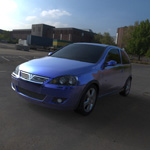 Click to see information about the 'Vauxhall Corsa SRI 2004 (for Wavefront OBJ)'.