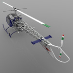 Bell 47G Helicopter (for Vue)