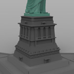 Statue of Liberty (for Wavefront OBJ)