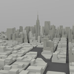 Manhattan Island Cityscape (for Wavefront OBJ)