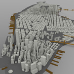 Click to see information about the 'Manhattan Island Cityscape (for Wavefront OBJ)'.