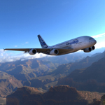Click to see information about the 'Airbus A380 (for Vue)'.