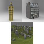 British Landmarks Pack (for Poser)