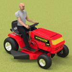 Click to see information about the 'Ride On Mower (for Poser)'.