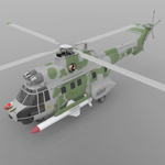 Super Puma AS-332B Helicopter (for Poser)