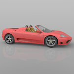 Ferrari 360 Spider 2000 (for Wavefront OBJ)