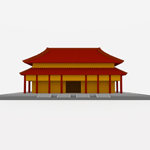Chinese Style Building (for Wavefront OBJ)