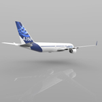 Airbus A-350-900 (for Wavefront OBJ)