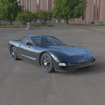 Click to see information about the 'Chevrolet Corvette 2003 (for Poser)'.