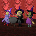 V Powers Sister Witches (for Poser)