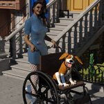 Wheelchair (for DAZ Studio)