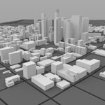 Los Angeles Cityscape (for Wavefront OBJ)