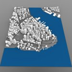 Click to see information about the 'Lower Manhattan Cityscape (for Wavefront OBJ)'.
