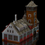 Click to see information about the 'Firestation (for Poser)'.