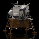 Click to see information about the 'Eagle Lunar Lander (for Poser)'.