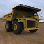 Click to see information about the 'Heavy Mine Truck Dumper (for 3D Studio Max)'.