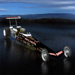 Click to see information about the 'Rear Engine Dragster (for Poser)'.