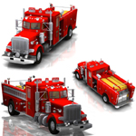 Peterbilt Firefight Truck (for Poser)