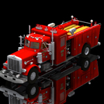 Click to see information about the 'Peterbilt Firefight Truck (for Poser)'.