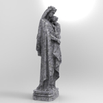Italian Virgin Statue (for 3D Studio Max)