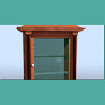 Biedermeier Display Cabinet (for 3D Studio Max)