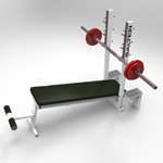 Declined Press Bench (for 3D Studio Max)