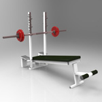 Click to see information about the 'Declined Press Bench (for 3D Studio Max)'.