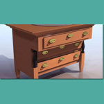 Click to see information about the 'Biedermeier Commode (for 3D Studio Max)'.