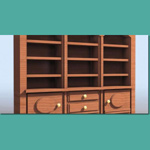 Click to see information about the 'Bookshelf With Cabinet (for 3D Studio Max)'.