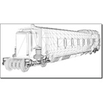 Wagon Tourist Train Car (for 3D Studio Max)