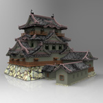 Click to see information about the 'Hikone Castle (for 3D Studio Max)'.