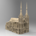 Clermont Cathedral (for 3D Studio Max)
