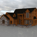 Two Story Traditional Home (for 3D Studio Max)