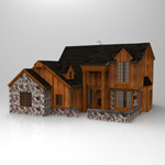 Click to see information about the 'Two Story Traditional Home (for 3D Studio Max)'.