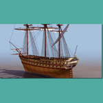 Click to see information about the 'Le Glorieux Ship of the Line (for 3D Studio Max)'.