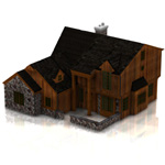 Click to see information about the 'Two Story Traditional Home (for Lightwave)'.