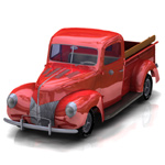 Click to see information about the '40 Ford Pickup (for Poser)'.