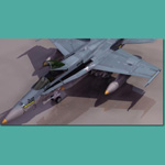 Click to see information about the 'F/A-18 Hornet (for 3D Studio Max)'.