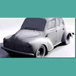 Renault 4CV (for 3D Studio Max)