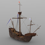 Click to see information about the 'Santa Maria (for 3D Studio Max)'.