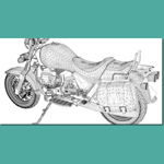 Moto Guzzi 1100 California (for 3D Studio Max)