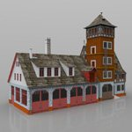 Fire Station (for DAZ Studio)