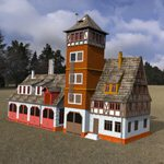 Click to see information about the 'Fire Station (for DAZ Studio)'.