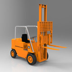 Elevator Truck Caterpillar (for 3D Studio Max)